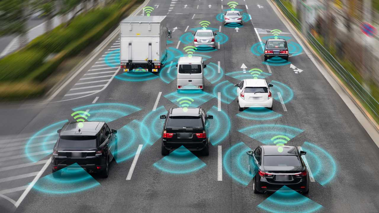 Sensing and wireless communication systems of autonomous self driving cars