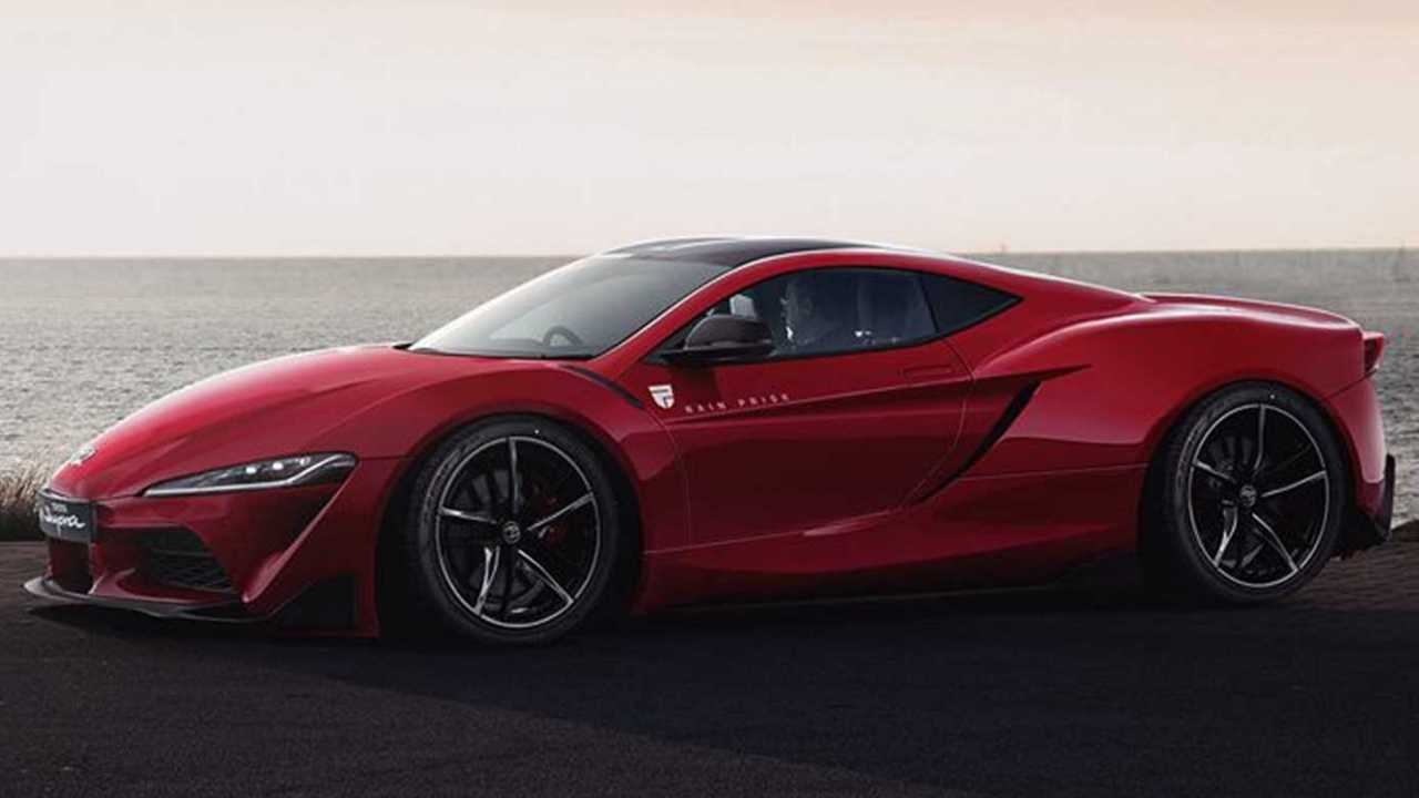 Mid-engined Toyota Supra render