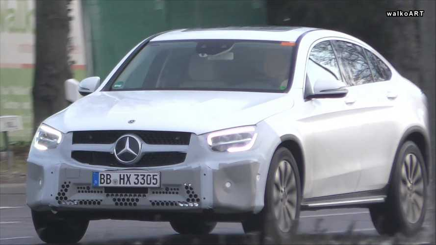 Mercedes GLC Coupe facelift caught with very little camo