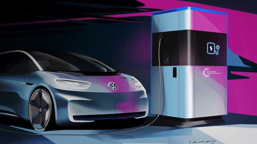 VW previews mobile electric car charging units