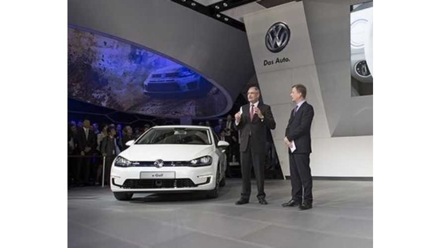 Volkswagen Drops Liquid Cooling, Will Instead Air Cool e-Golf Battery