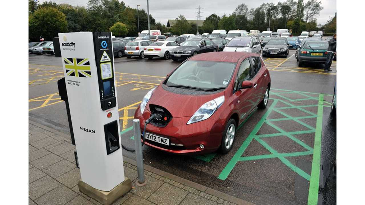 Majority of UK Charging Stations to Charge Fee For Electricity By End of Year