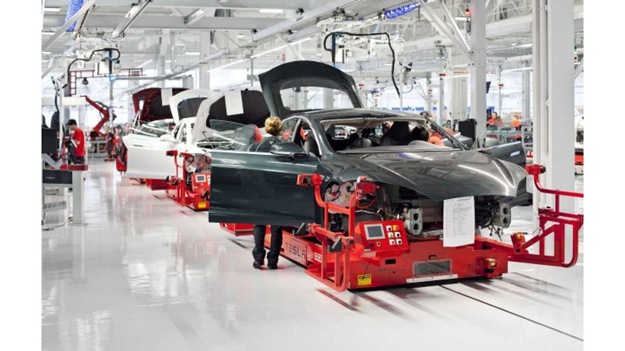 Tesla Model S Production Rate Now At 700 Units Per Week