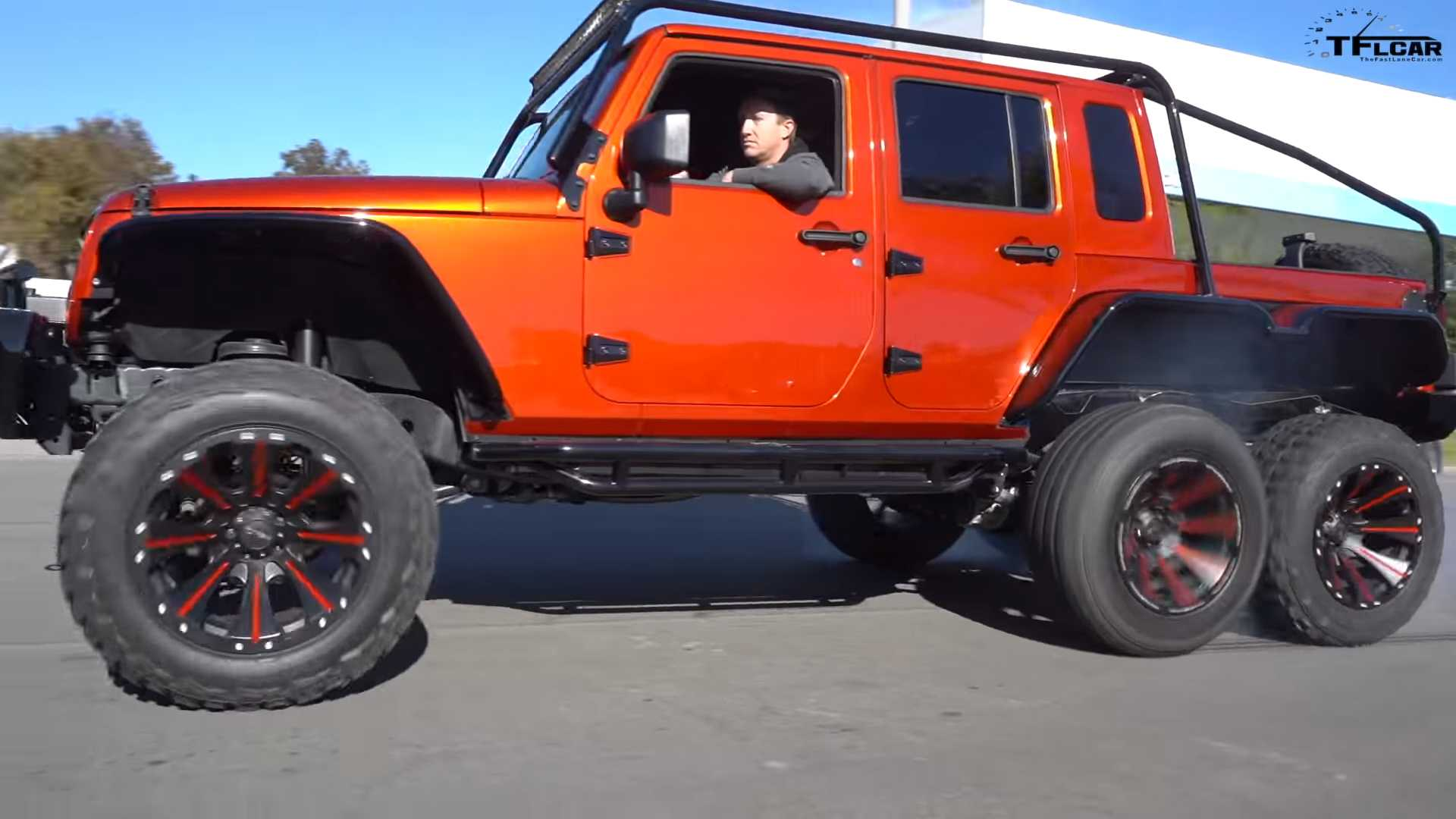 Crazy Custom Jeep Wrangler 6x6 Pickup Packs Hellcat V8 Power