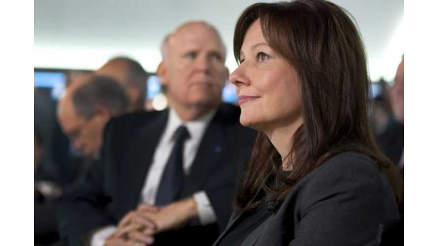 GM CEO Akerson Retires, Mary Barra Takes Over - But What Does It Mean For GM Plug-Ins?