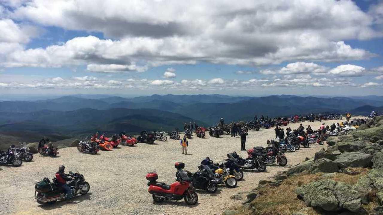 Motorcycles Atop Mount Washington