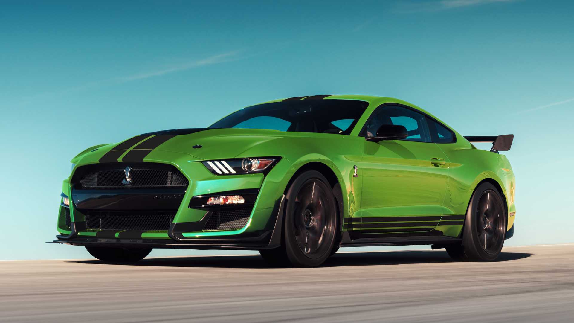 Ford mustang gets grabber lime paint in honor of st paddys day