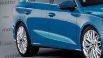 Nuova Audi A3 Sportback 2019, il rendering