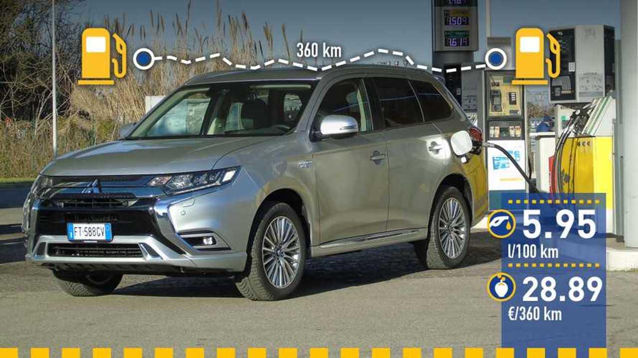Mitsubishi Outlander PHEV 2019: prueba de consumo