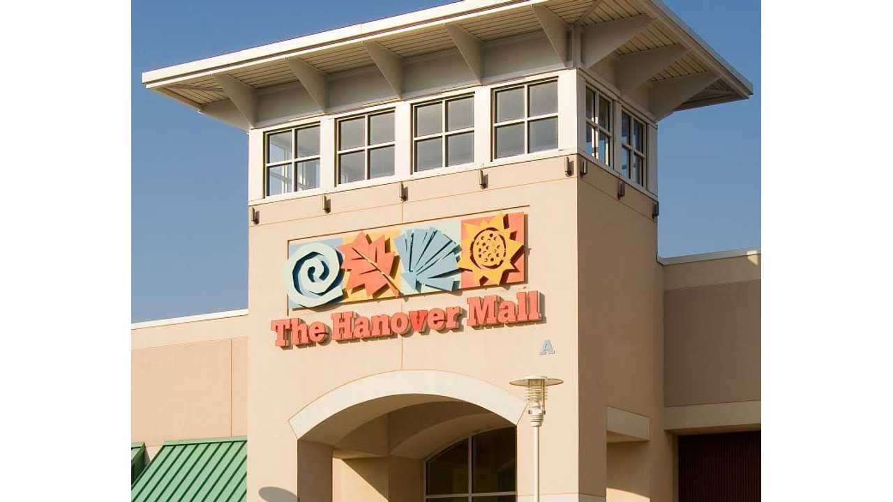 Charging Station Usage at Hanover Mall in Pennsylvania Shoots Up by 250% in Last 9 Months