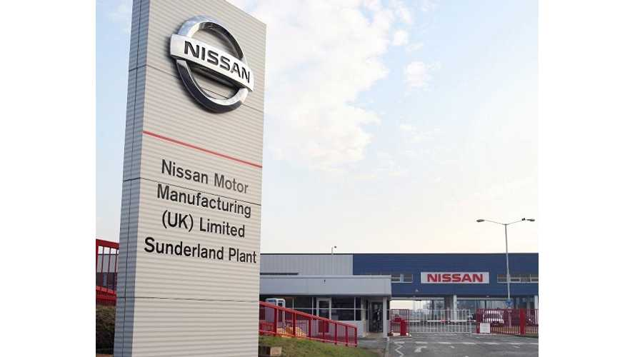 Nissan's UK Sunderland Battery Plant Now Operational