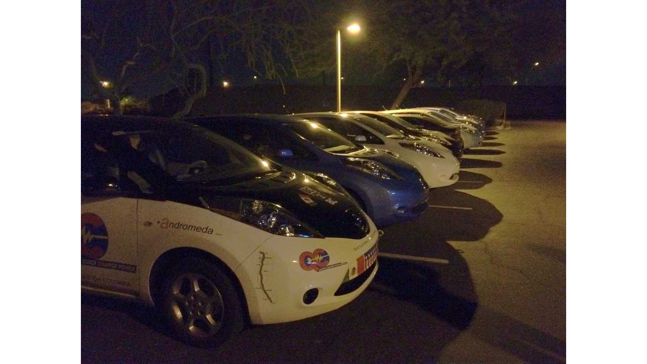 12 Nissan LEAFs With