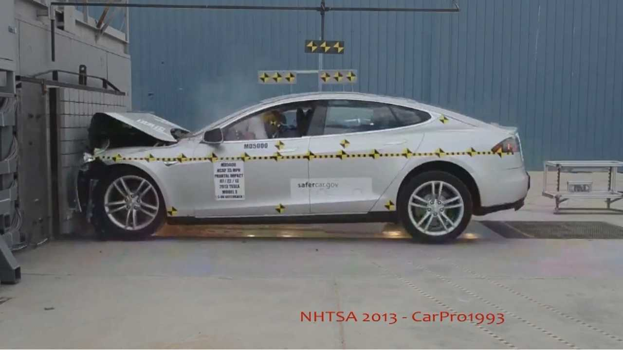 Tesla Model S Gets 5-Star Safety Rating From NHTSA (w/videos)
