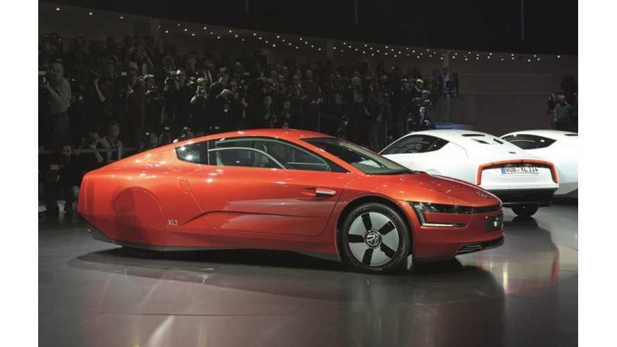 Geneva: Volkswagen To Build 250 Of Their Uber Efficient XL1 Diesel Plug-Ins