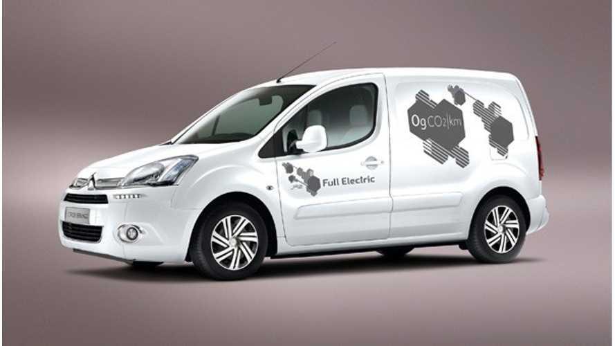 Electric Citroen Berlingo Van Debuts in UK; Sales to Start in Late 2013