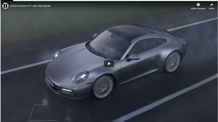 Wet Mode: So stellt sich der Porsche 911 (2019) auf Nässe ein