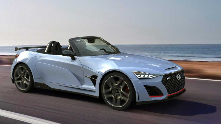 Hyundai N Roadster rendered as Miata-fighting sports car