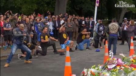 Kiwi Bikers Pay Tribute To Christchurch Victims With Haka