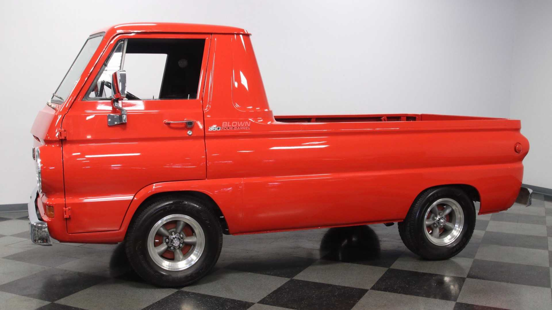 """[""""Dodge A100 Pickup Has A Supercharged Engine And Racing Heritage""""]"""