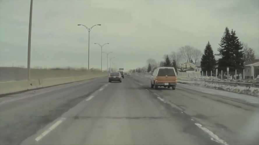 TeslaCam Video Shows Ice In You Car Can Turn Into A Missile