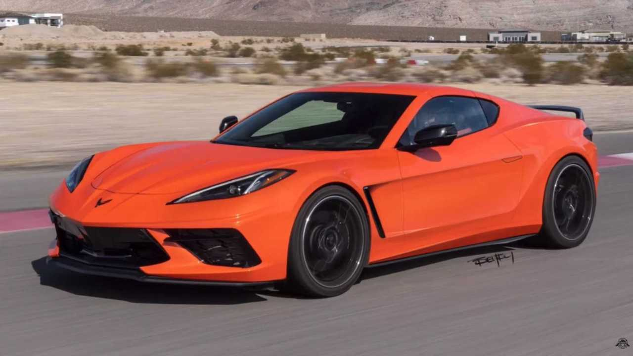 2020 Chevy Corvette C8 with front-engine layout