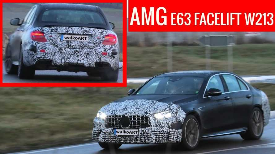 2021 Mercedes-AMG E63 spotted hiding new grille and lights