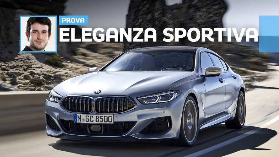 BMW Serie 8 Gran Coupé, 530 CV alla prova su asfalto e neve