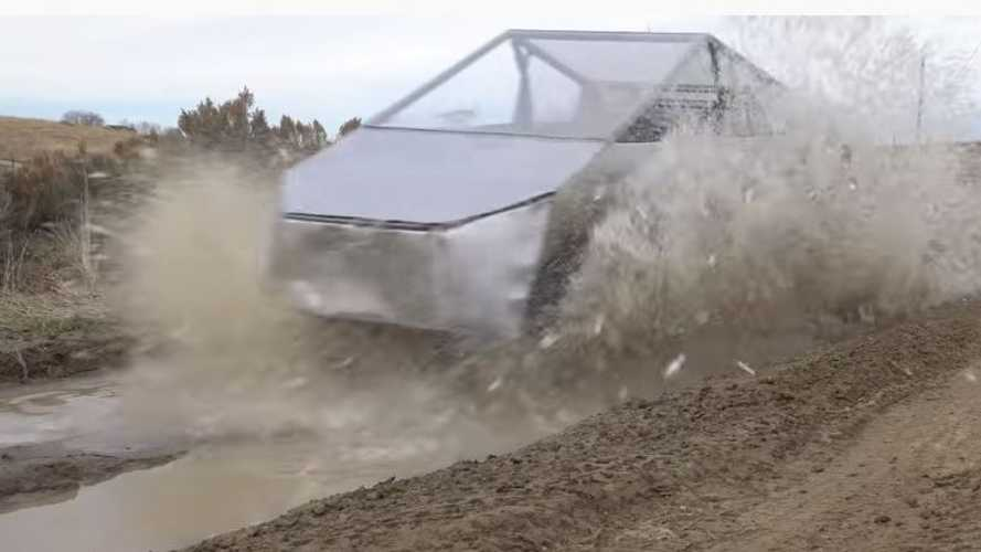 Watch This Cybertruck Get Shot, Go Through Car Wash, Go Off Road
