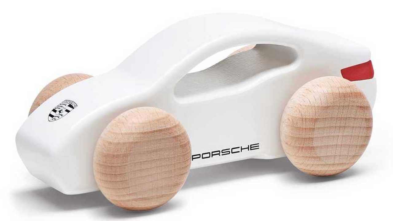 Porsche Taycan wooden car
