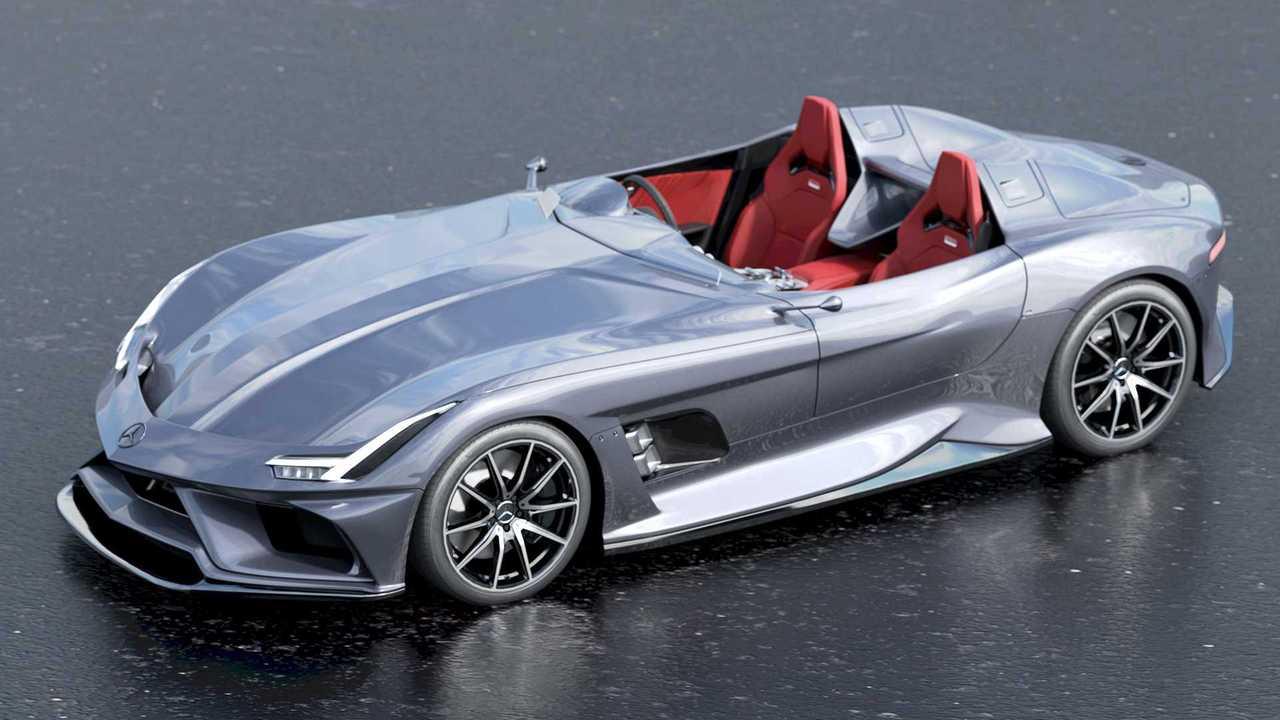 Mercedes-AMG Silver Echo Fan Rendering