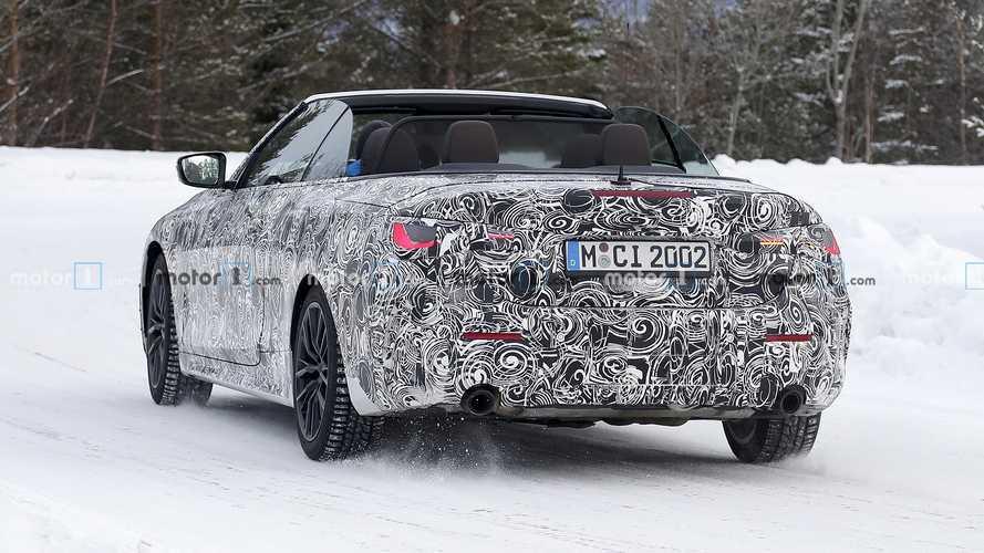 Новый кабриолет BMW 4-й серии сняли в снегу и на треке