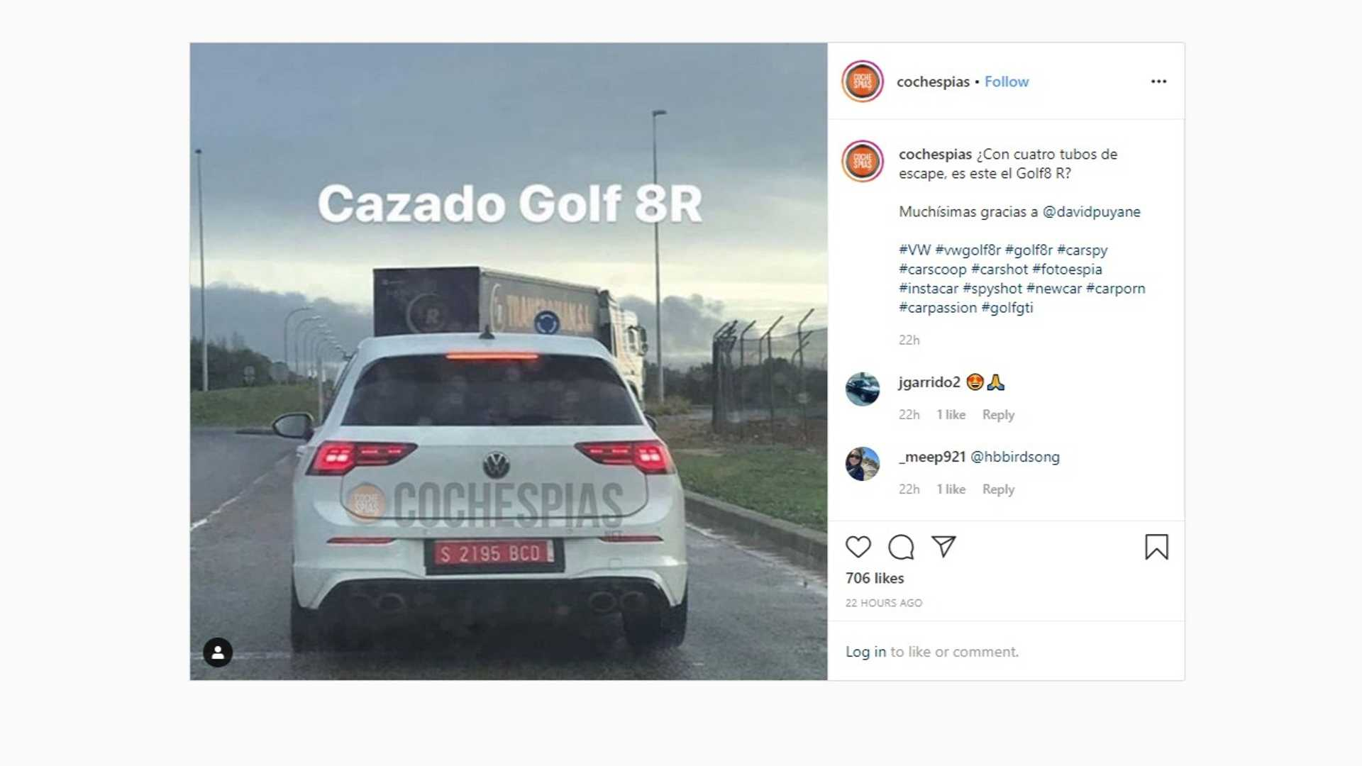 2021 VW Golf R Caught In Broad Daylight With Quad Exhaust
