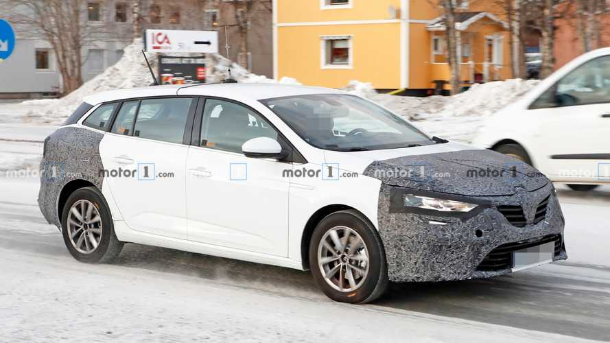 Renault Megane Grandtour Spied Showing Sharper Front Styling