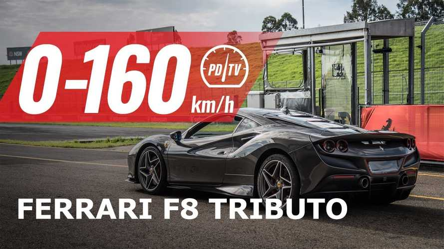 Videó: Így repeszt nulláról 160 km/órára a Ferrari F8 Tributo