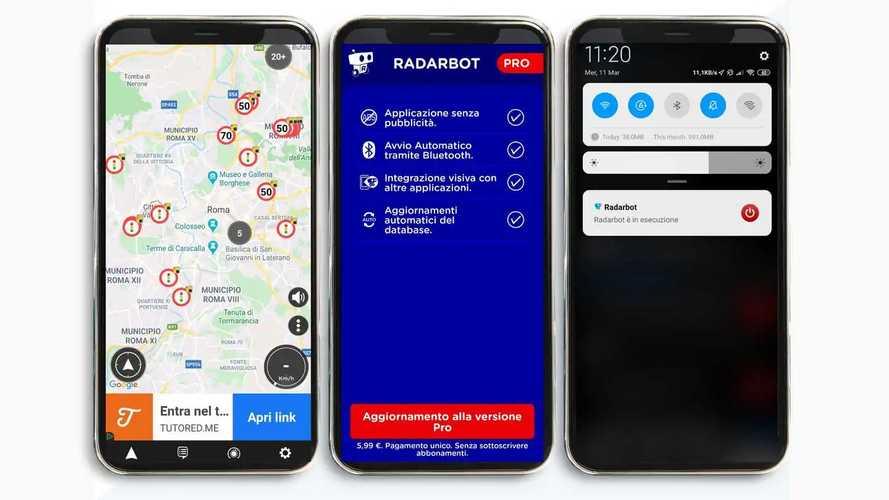 Radarbot, l'app per individuare autovelox e tutor