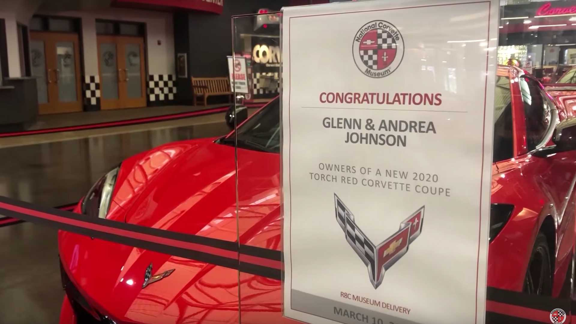 First 2020 Corvette C8 R8C Museum Delivery