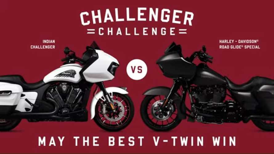 Indian Goes After Harley Road Glide With The Challenger Challenge