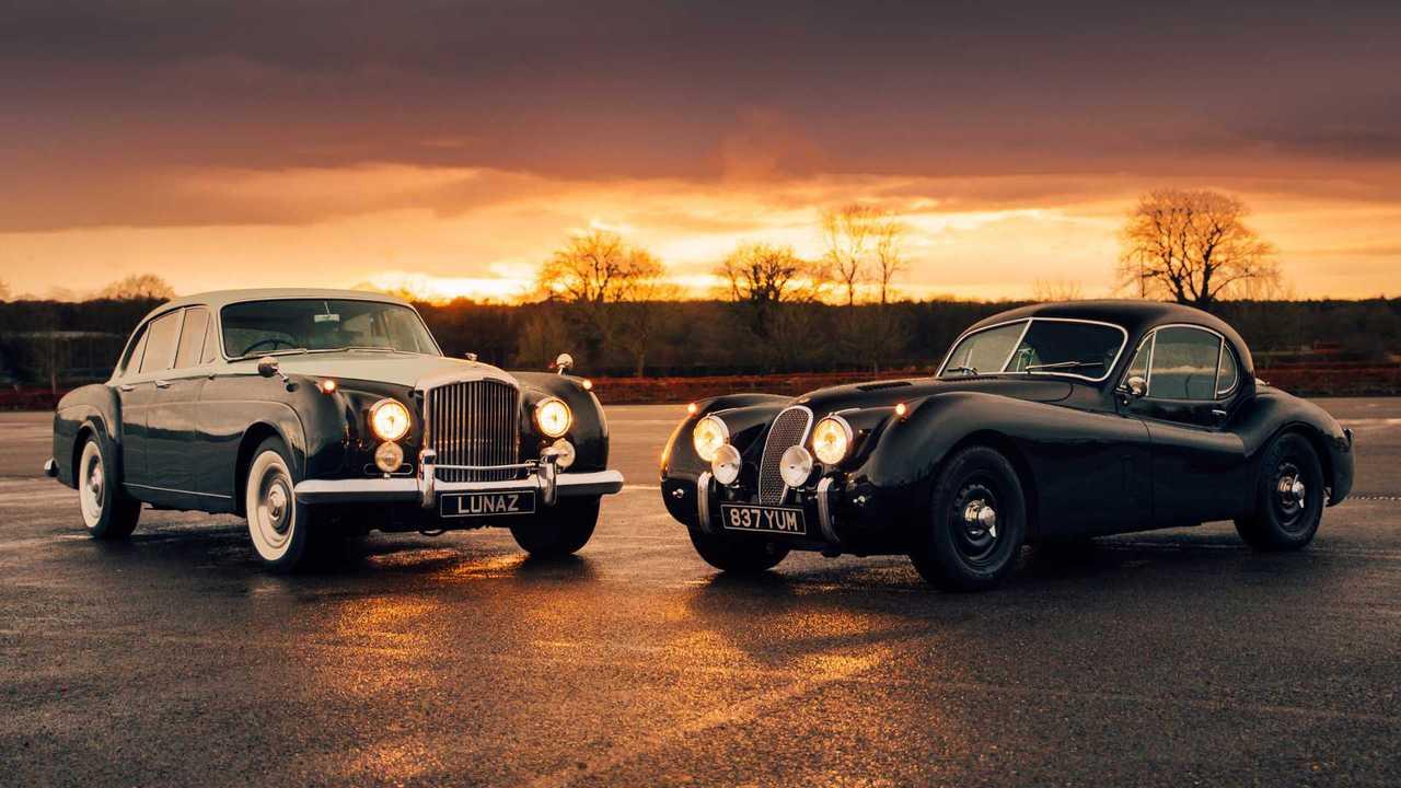 Bentley S3 and Jaguar XK electric conversions by Lunaz