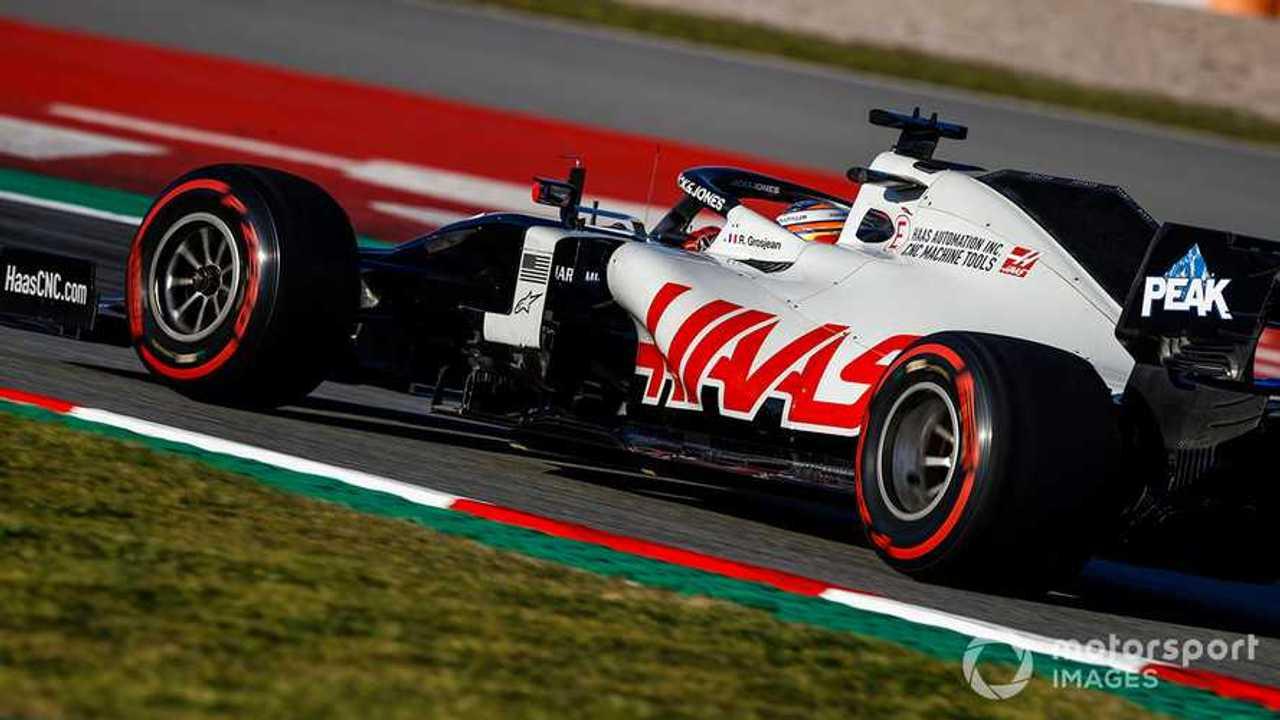 Romain Grosjean at Barcelona Feb 2020 testing