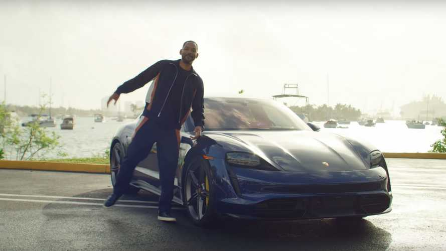 Will Smith Gives People A Lyft In A Porsche Taycan Turbo S