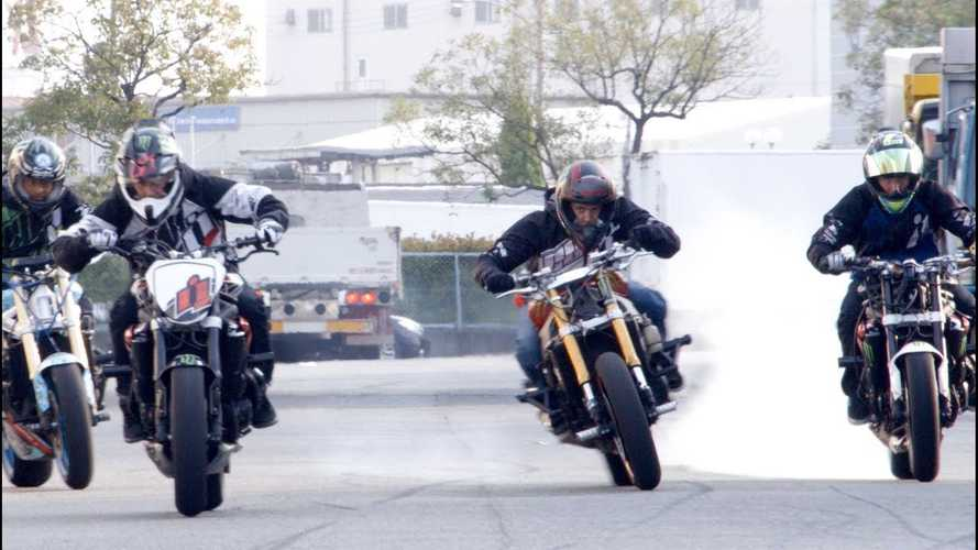 Stunt Riders Thrash It In Japan In This Excellent Video