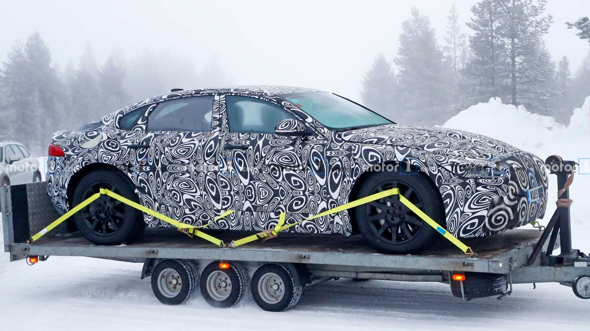 Next-gen Jaguar XJ EV spied for first time
