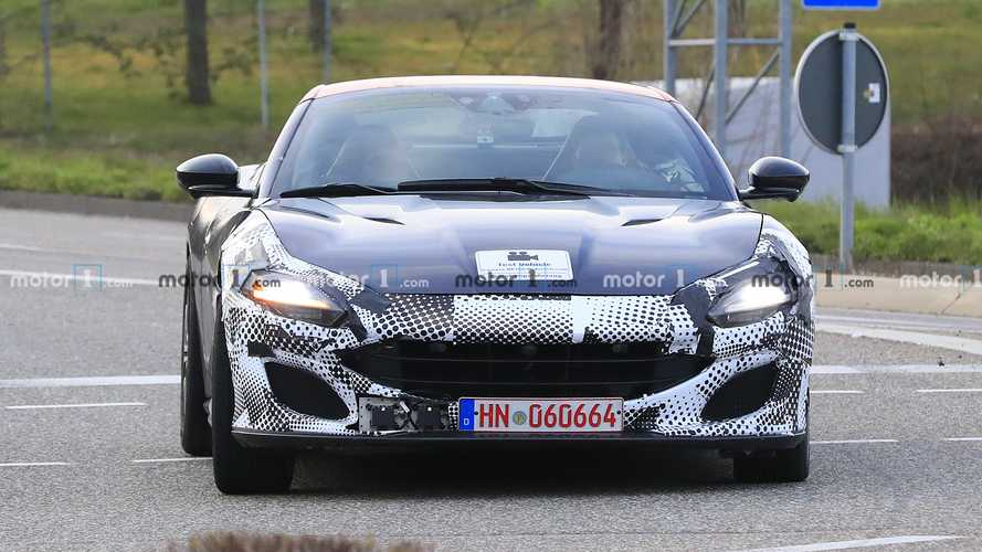Ferrari Portofino facelift spy photos
