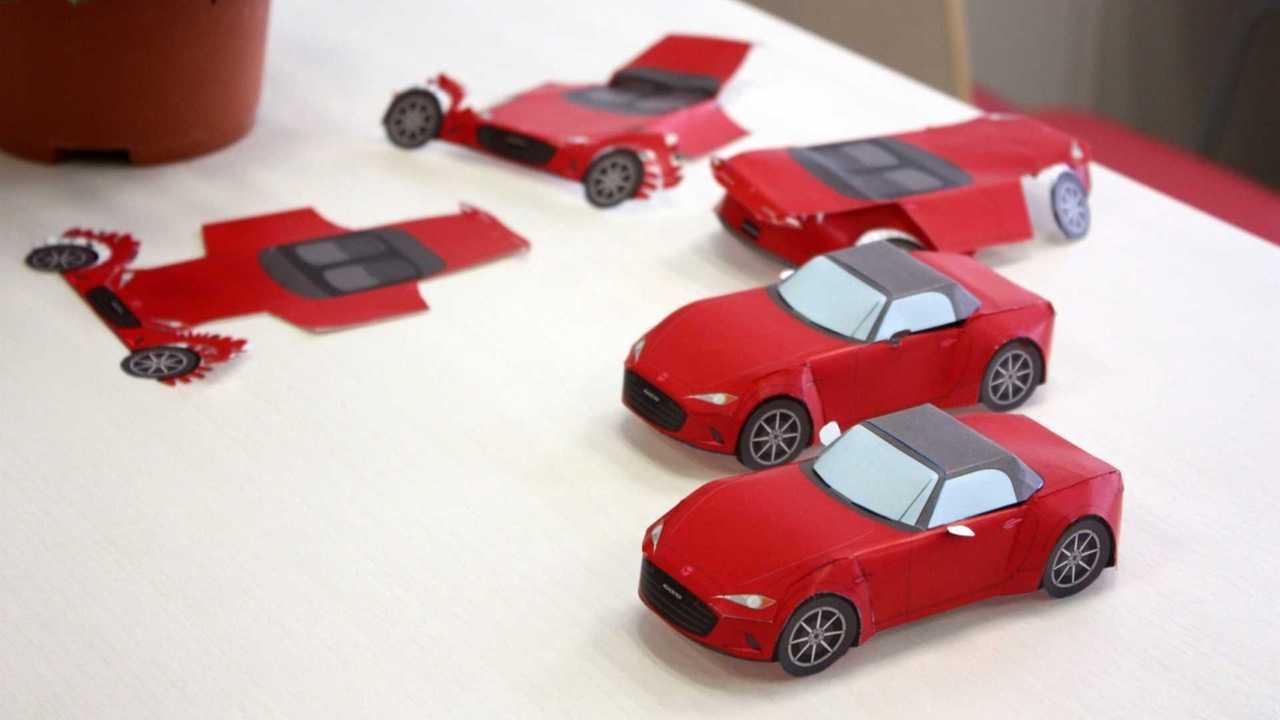 Mazda modelos recortables de papel
