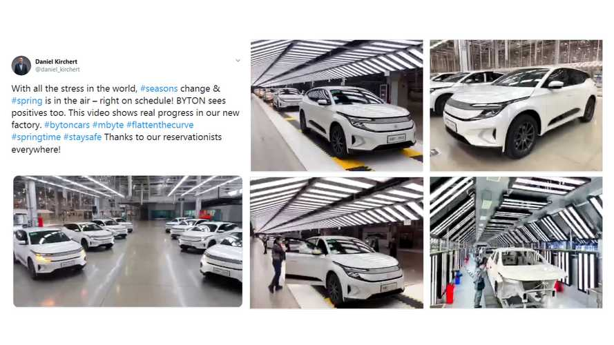 Byton Resumes Production Of M-Byte Electric SUV