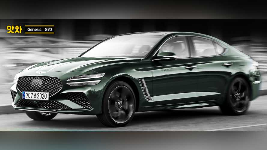 2021 Genesis G70 Facelift Rendered With G80's Sharp Styling