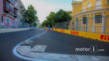 Baku city circuit at turn 15