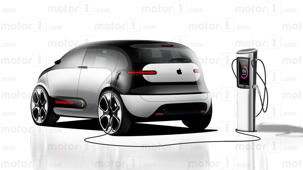 Rendering di Apple Car di Motor1