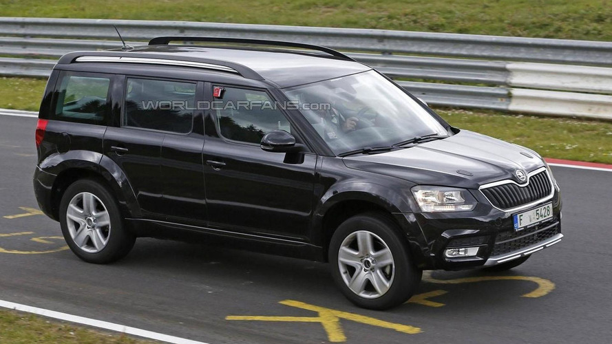 Skoda Snowman mule spied on the Nurburgring