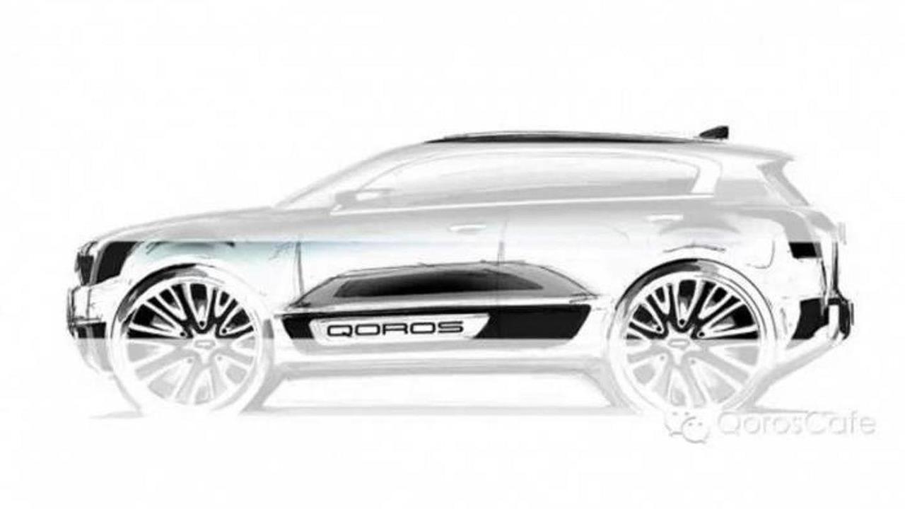Qoros 2 SUV concept teaser image